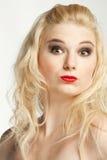 Se demander de beauté blond Image stock