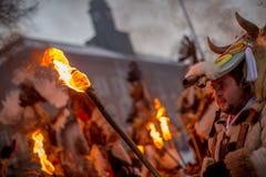 Se den rituella branden arkivfoto