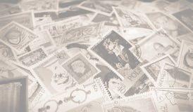Se desmaya el fondo de los sellos fotografía de archivo