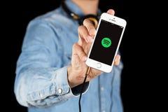 Se di iPhone di Apple Immagini Stock Libere da Diritti