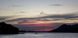 Se dirigeant à la maison, Dubrovnik Photo libre de droits