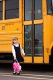 Se diriger à la maison de l'école Images stock