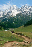 Se diriger vers l'Himalaya Photographie stock libre de droits