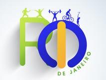 Se divierte concepto con el texto Rio De Janeiro Foto de archivo libre de regalías