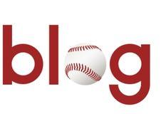 Se divierte el blog sobre béisbol Imagen de archivo libre de regalías