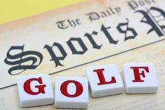 Se divierte golf del juego Imágenes de archivo libres de regalías
