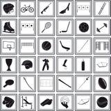 Se divierte iconos Imagen de archivo libre de regalías