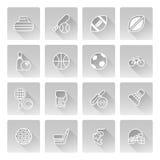Se divierte iconos Fotografía de archivo libre de regalías