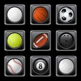 Se divierte iconos de las bolas Imagen de archivo libre de regalías