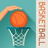 Se divierte la bola del baloncesto del tiro de la mano del ejemplo Fotos de archivo libres de regalías
