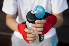 Se divierte la botella de agua Fotografía de archivo