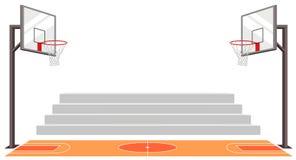 Se divierte a la cancha de b?squet vector del partido stock de ilustración