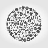 Se divierte un círculo Imágenes de archivo libres de regalías