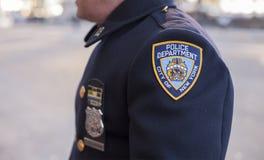 Se do agente da polícia em Macy desfilam Imagens de Stock