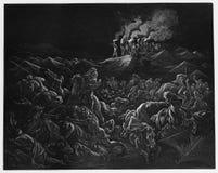 Se encamina el Midianites ilustración del vector