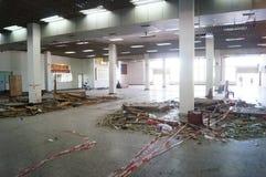 Se están desmontando los puntos de control de Nantou de la zona económica especial de Shenzhen Foto de archivo libre de regalías