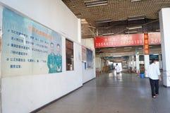 Se están desmontando los puntos de control de Nantou de la zona económica especial de Shenzhen Imagen de archivo