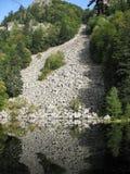 Se-exponeringsglas sjö i Vosgesna Arkivbilder