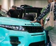 Se extiende Rover Evoque en el salón del automóvil 2019 de Londres imagen de archivo libre de regalías