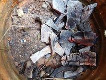 Se extingue el carbón de leña Fotografía de archivo libre de regalías