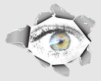 se för ögonhål stock illustrationer