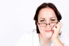 se för affärskvinna Fotografering för Bildbyråer