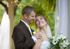 se för brudbrudgum Fotografering för Bildbyråer