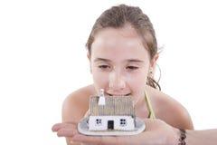 se för flickahus Fotografering för Bildbyråer