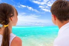 se för strandungar Royaltyfria Foton