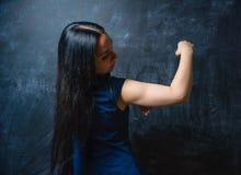 Se för ung kvinna Arkivfoto