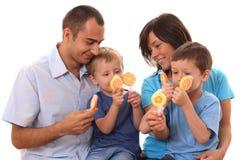 Süße Familie Lizenzfreie Stockfotos