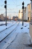 Se från drevstationen i Riga Royaltyfri Foto