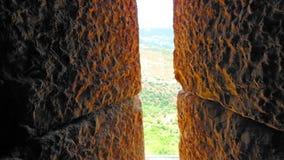 Se från tornet av Nimrod Fortress Arkivfoto