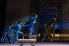 """Se framåtriktat till blick-Shanxi Operatic""""Fu Shan till Beijing† Arkivbilder"""