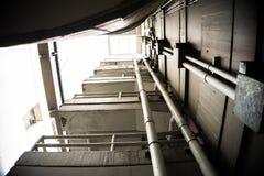 Se garer d'escaliers Photo libre de droits