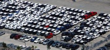 Se garer de voitures de location Photographie stock libre de droits