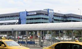 Se garer près de l'aéroport international de Prague Photo libre de droits