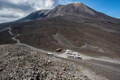 Se garer sur l'Etna Image stock