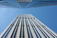 se högväxt övre för skyskrapor Arkivfoto
