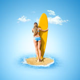se havskvinnan Royaltyfria Bilder