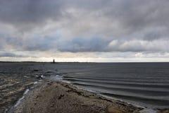 se heurtent les marées où Image libre de droits