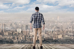 Se horisonten av staden arkivfoton