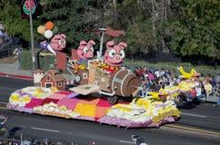 Se i maiali potessero pilotare il galleggiante di Rose Parade Fotografie Stock
