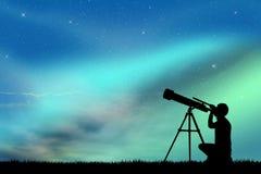 Se i teleskopet Royaltyfria Bilder