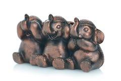 Se ingen ondska, tala ingen ondska, hör inga onda elefanter Royaltyfri Bild