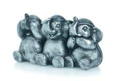 Se ingen ondska, tala ingen ondska, hör inga onda elefanter Fotografering för Bildbyråer