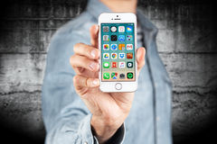 SE iPhone Яблока Стоковая Фотография