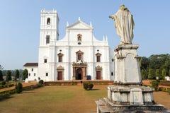 Se katedra w Starym Goa, Goa zdjęcia stock