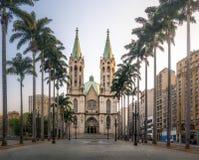 Se-Kathedrale - Sao Paulo, Brasilien lizenzfreie stockbilder