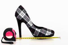 Se le misure della scarpa… Fotografia Stock Libera da Diritti